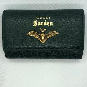 GUCCI GARDEN GG Bat Marmont leather key case